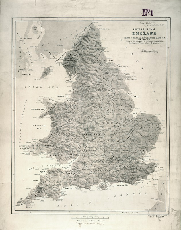 Photo relief map of England
