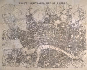 Rock's illustrated map of London