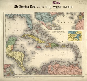 The Evening Post map of the West Indies