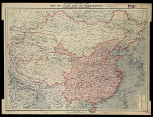 National Geographic Magazine map of China and its territories