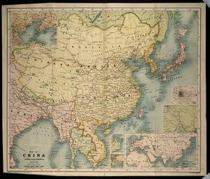 Map of China, Burma, Siam, Annam &c