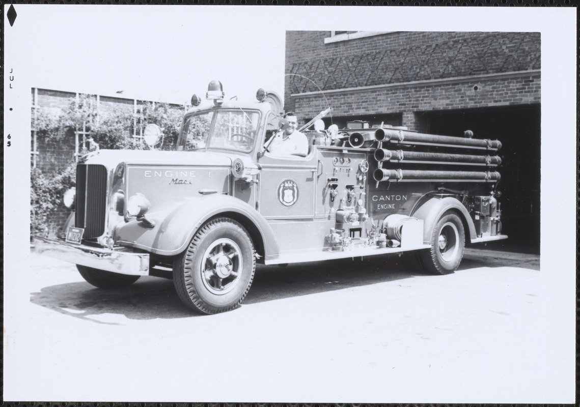 Canton Fire Dept. Engine 1 at Central Fire Station, Canton