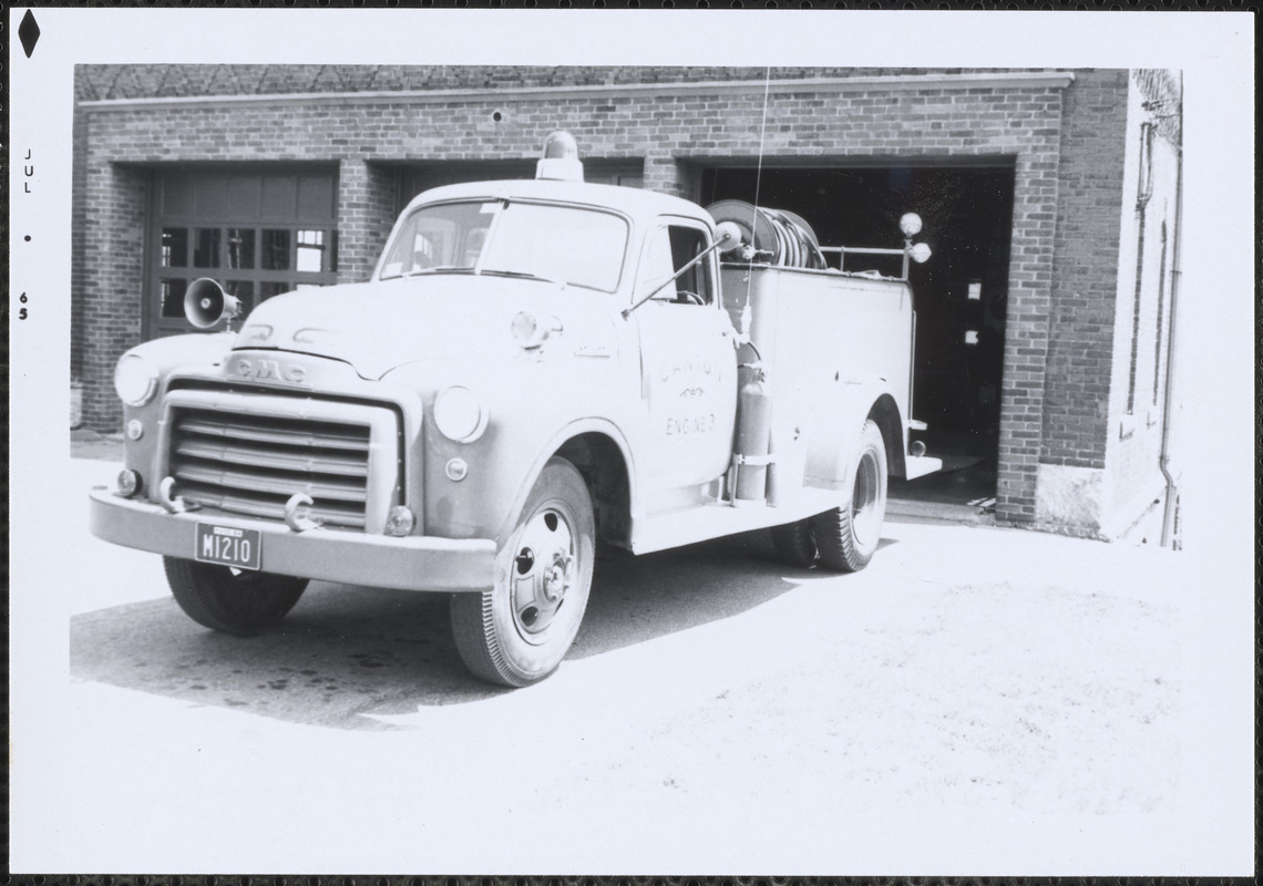 Canton Fire Dept. Engine 3 at Central Fire Station, Canton