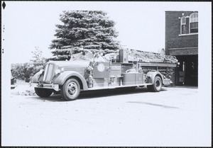 Canton Fire Dept. Ladder 1 at Central Fire Station, Canton