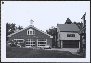 Ponkapoag Fire Station, new & old
