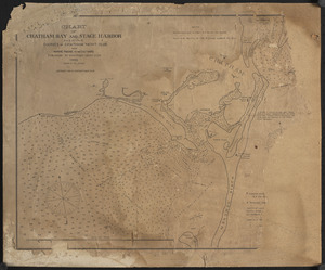 Chart of Chatham Bay and Stage Harbor