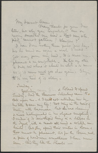 Celia Thaxter autograph letter signed to Annie Fields
