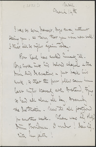 Celia Thaxter autograph letter signed to [Annie Fields], N[ewton]ville, [Mass.], 14 March [1872?]