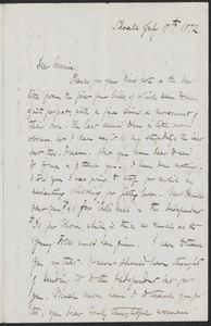 Celia Thaxter autograph letter signed to Annie Fields, Shoals, [N.H.], 17 & 24 July 1872