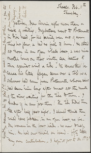 Celia Thaxter autograph letter signed to Annie Fields, Shoals, [N.H.], 11, [12 & 13] February [1875]