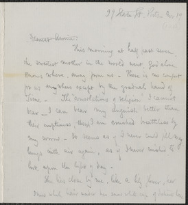 Celia Thaxter autograph letter signed to Annie Fields, Ports[mouth, N.H.], 19 November [1877]