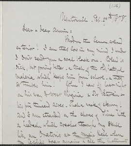Celia Thaxter autograph letter signed to Annie Fields, Newtonville, [Mass.], 29 February 1878