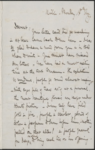 Celia Thaxter autograph letter signed to Annie Fields, N[ewton]ville, [Mass.], 17 November 1879