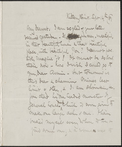 Celia Thaxter autograph letter signed to [Annie Fields], Kittery Point, [Me.], 14 September [18]81