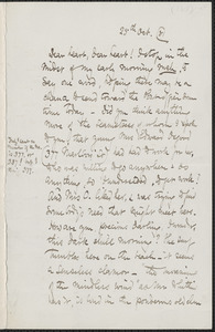Celia Thaxter autograph letter signed to [Annie Fields], 25 October [18]81