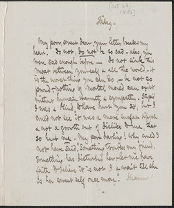 Celia Thaxter autograph letter signed to [Annie Fields, 28 October 1881]