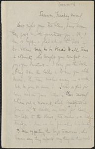 Celia Thaxter autograph letter signed to Annie Fields, 22 November 1881]