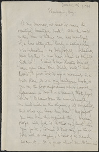 Celia Thaxter autograph letter signed to [Annie Fields, 24 November 1881]