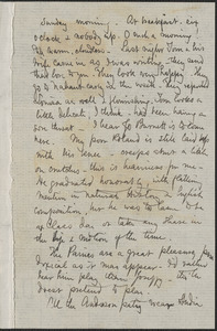 Celia Thaxter autograph letter signed to [Annie Fields, Shoals, N.H., 16] & 17 [July 1882]