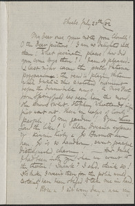 Celia Thaxter autograph letter signed to [Annie Fields and Sarah Jewett], Shoals, [N.H.], 20 July [18]82