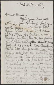 Celia Thaxter autograph letter signed to Annie Fields, 16 & [17] August [1882]