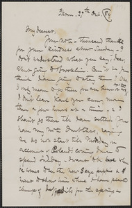 Celia Thaxter autograph letter signed to Annie Fields, Farm, [Kittery Point, Me.], 29 October [18]84