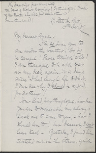 Celia Thaxter autograph letter signed to Annie Fields, Ports[mouth, N.H.], 13 December [18]89