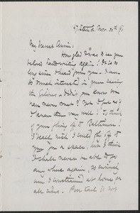 Celia Thaxter autograph letter signed to Annie Fields, [Portsmouth, N.H.], 30 November [18]90