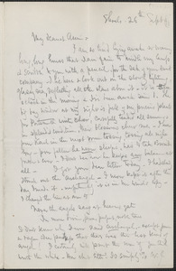 Celia Thaxter autograph letter signed to Annie Fields, Shoals, [N.H.], 26 September [18]91