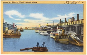 Casco Bay Fleet at wharf, Portland, Maine