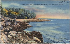 View Along the Rock Bound Coast of Maine, Rockland, Maine