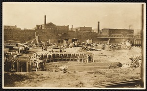 Ayer Mill construction ca 1909