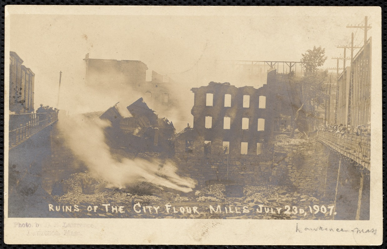 Ruins of the city flour mills July 23d, 1907