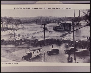 Flood scene, Lawrence Dam, March 20, 1936