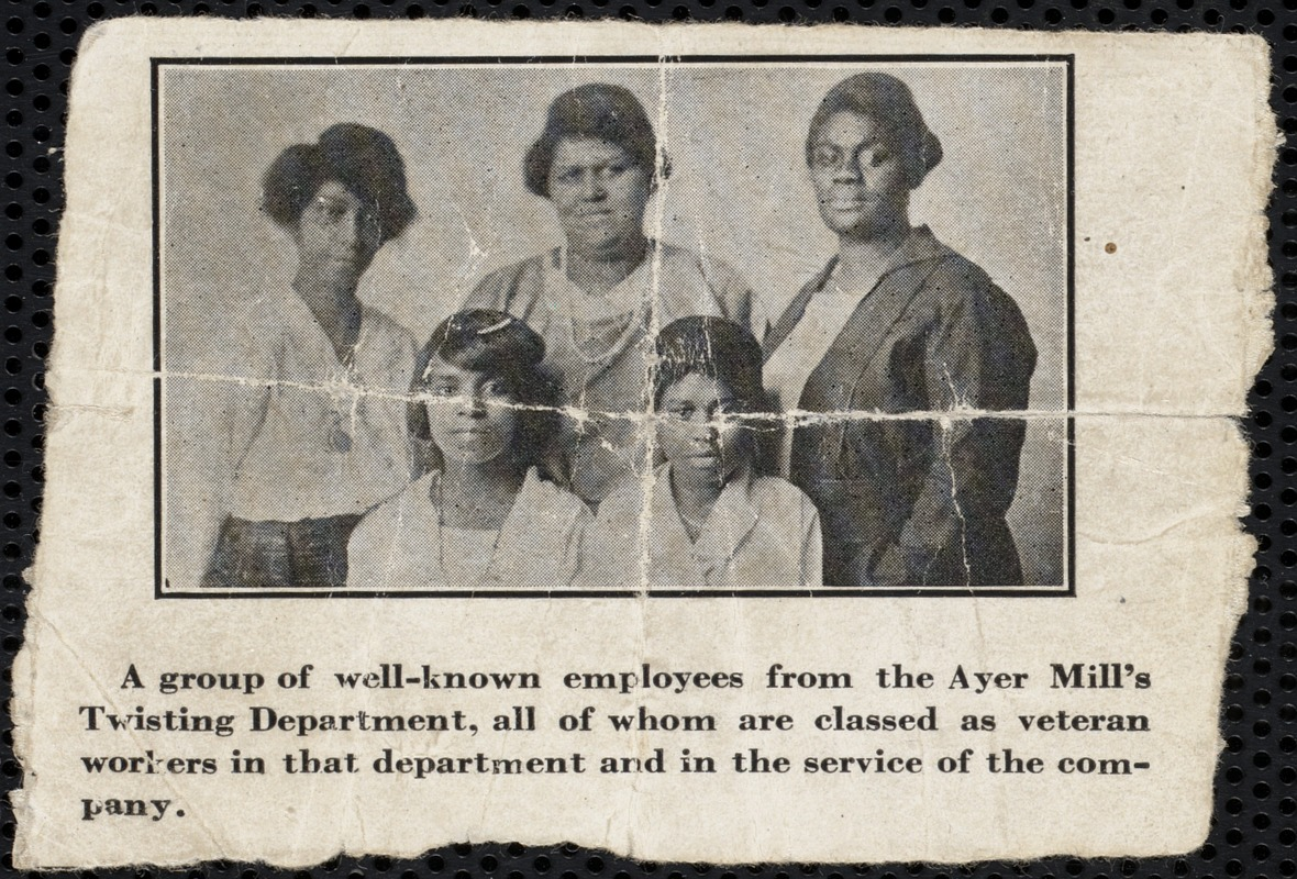 Afro-American women from Ayer Mill
