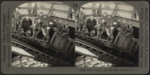 Miners going into the slope, Hazelton, Pennsylvania