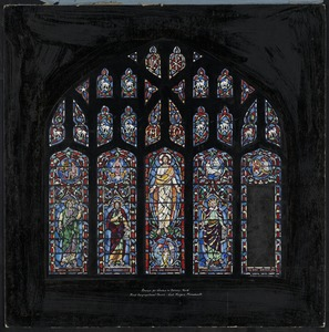 Design for window in balcony, north, First Congregational Church, West Medford, Massachusetts
