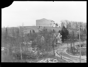 Distribution Department, Southern Extra High Service Bellevue Reservoir, from the west, West Roxbury, Mass., Jan. 8, 1917