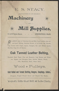 E.S. Stacy machinery and mill supplies