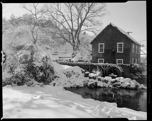 Brewster Mill, snow and ducks and other scenes