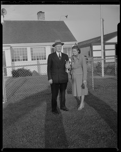Admiral Chester Nimitz and Wife, Hyannis Airport