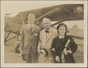 Howard Hinckley, G. Phelps and Niece, Hyannis Airport, Rotary convention