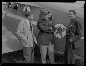 Alton B. Sherman with Col. Roscoe Turner and Robert Lautt at Reading PA, Hyannis Airport,