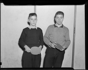 Frankie and Ed Filipek, state champs, table tennis