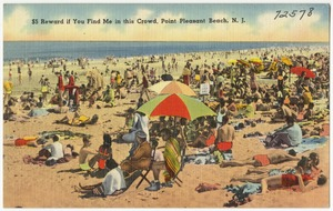 $5 reward if you find me in this crowd, Point Pleasant Beach, N. J.
