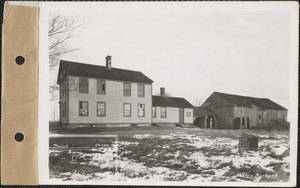 Adeline M. Ryder, house and barn, Prescott, Mass., Dec. 22, 1927