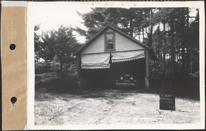 Alfred Burgin, garage, Quabbin Lake, Greenwich, Mass., June 28, 1928