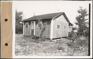 Alfred P. and Huldah Anderson, camp, Thompson Pond, New Salem, Mass., Aug. 29, 1928
