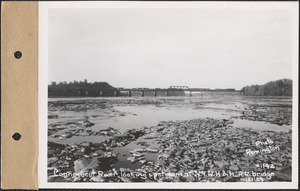 Connecticut River, looking upstream at New York, New Haven and Hartford Railroad Bridge, Connecticut River, Mass., Oct. 21, 1929