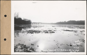 Connecticut River, looking downstream at New York, New Haven and Hartford Railroad Bridge, Connecticut River, Mass., Oct. 21, 1929